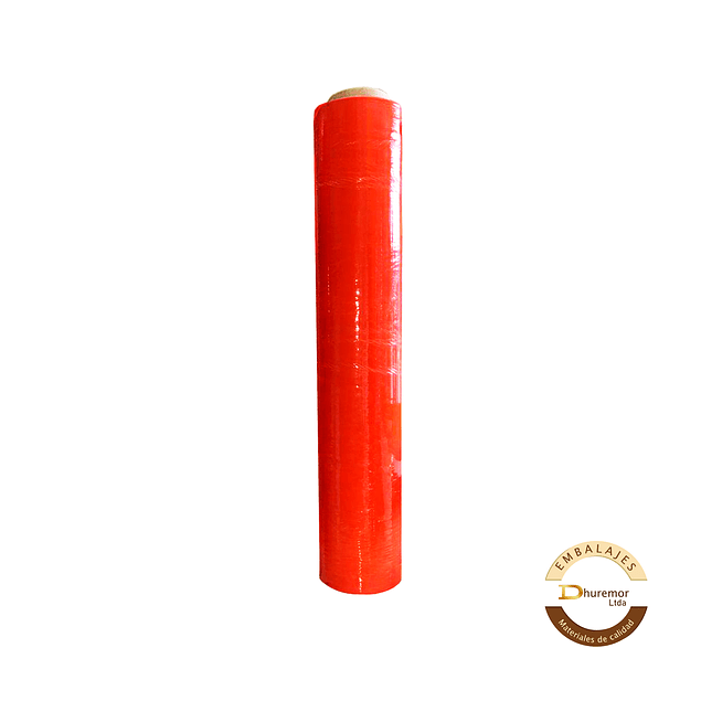 Rollo de Stretch Film Naranjo 1.6 Kg (para paletizar)