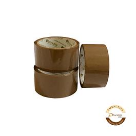 Pack x 3 cintas de embalaje 40m café
