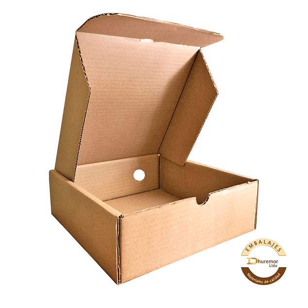 Caja troquelada por unidad 275X250X90 mm