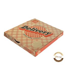 Caja de Pizza Delivery por unidad 380x380x50 mm
