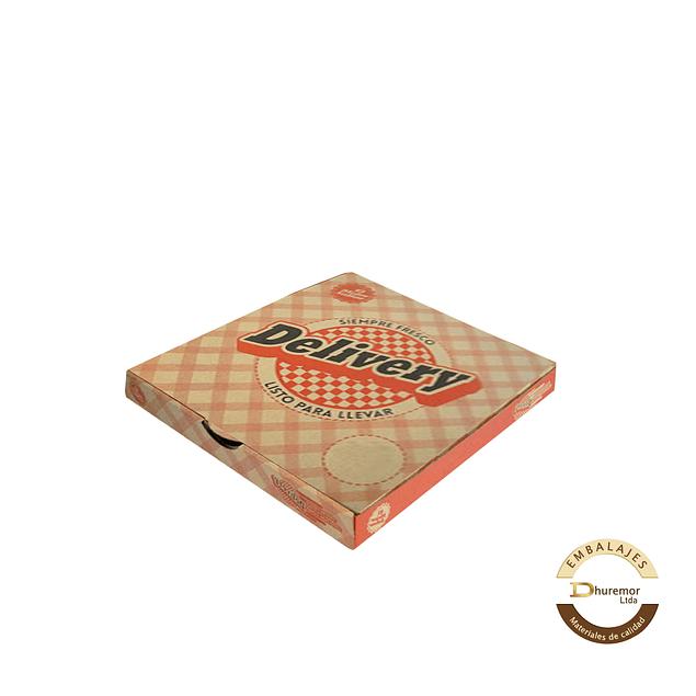 Caja de Pizza Delivery por unidad 270x270x50 mm