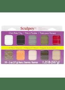 Sculpey III - Arcilla Polimérica Multipack Colores Naturales 10 x 57 g