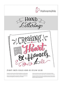 Hahnemühle Hand Lettering - Pad; A5 14,8 x 21 cm, 25 Hojas, 170 g/m2
