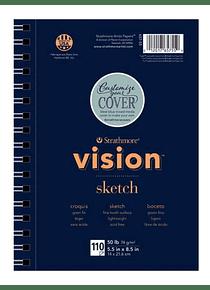 Strathmore Vision Sketch - Croquera 14 x 21,6 cm 74 g/m2 110 hojas