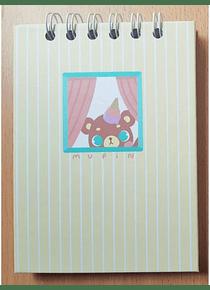 Piyoasdf - Mini Libreta Mupin; 70 hojas, 14,5 x 10,7 cm