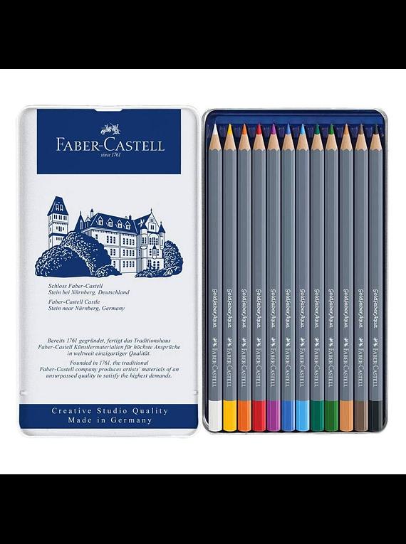 Faber Castell Goldfaber Aqua - Set 12 Lápices de Colores Acuarelables