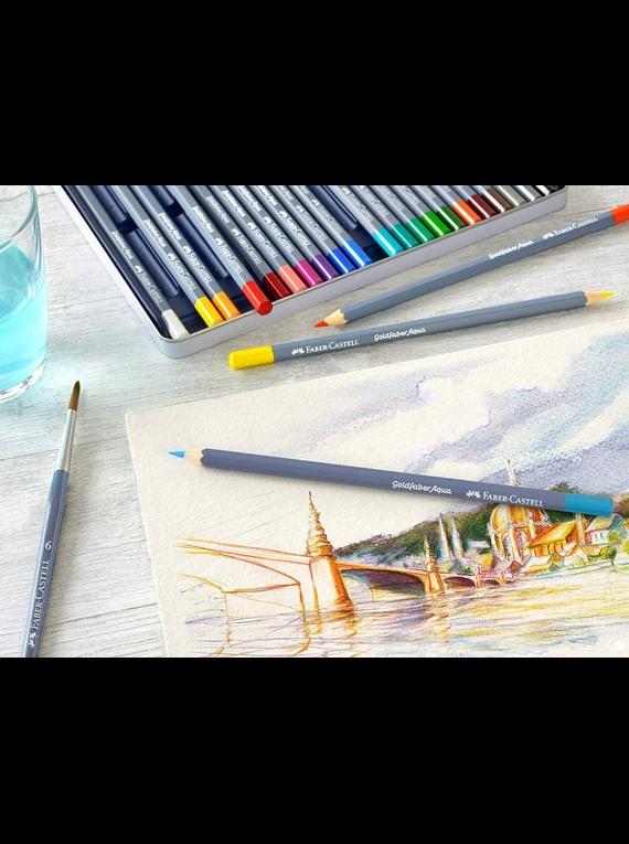 Faber Castell Goldfaber Aqua - Set 48 Lápices de Colores Acuarelables