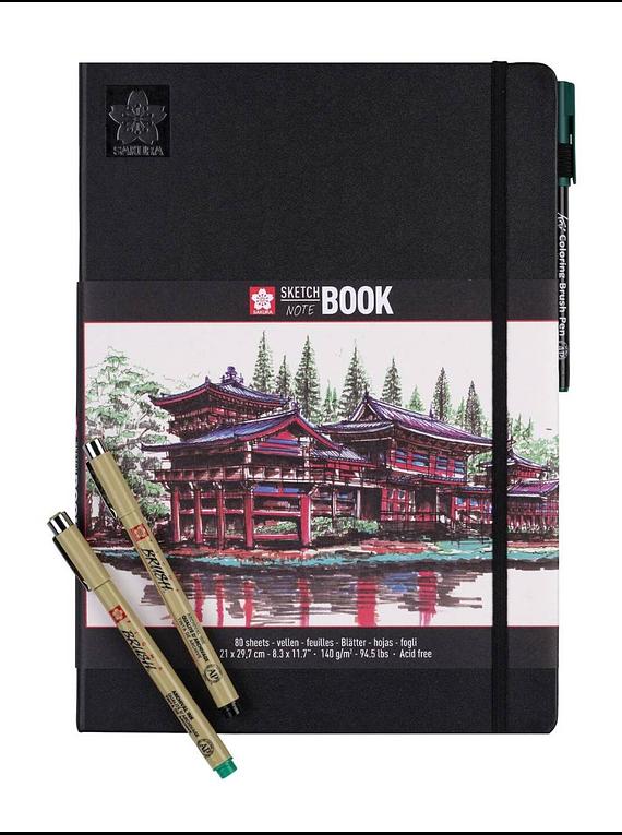 Sakura Sketch Note Book - Sketchbook Papel Blanco/Crema; 21 x 30 cm, 80 Hojas, 140 g/m2