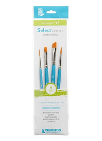 Princeton Select Artiste - Set 4 Pinceles Value Set 13