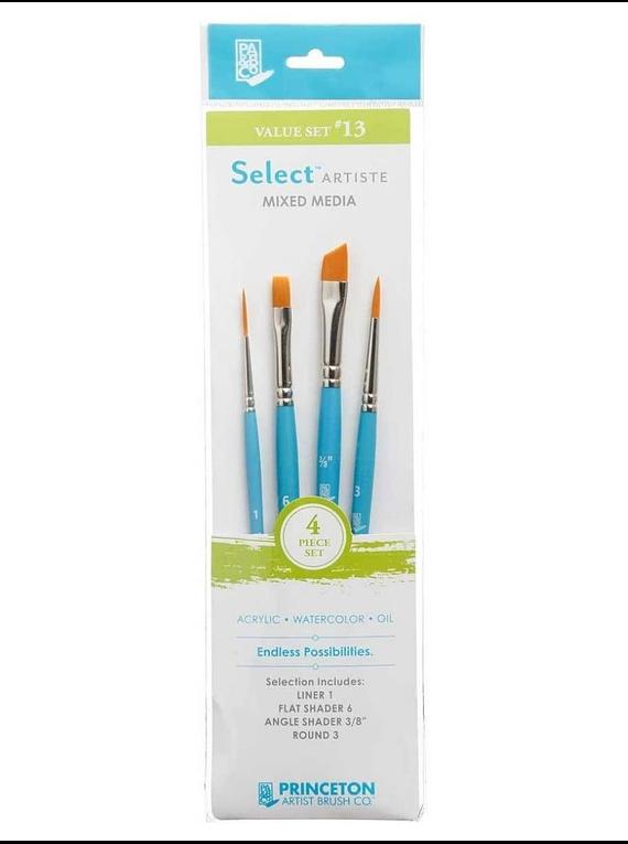 Princeton Select Artiste - Set 4 Pinceles Value Set 13