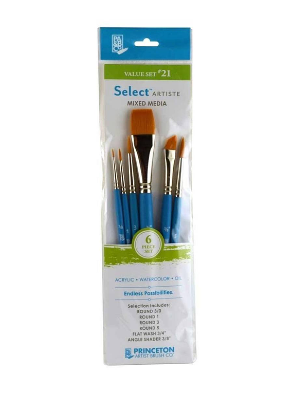 Princeton Select Artiste - Set 6 Pinceles Value Set 21
