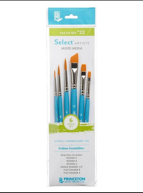 Princeton Select Artiste - Set 6 Pinceles Value Set 22