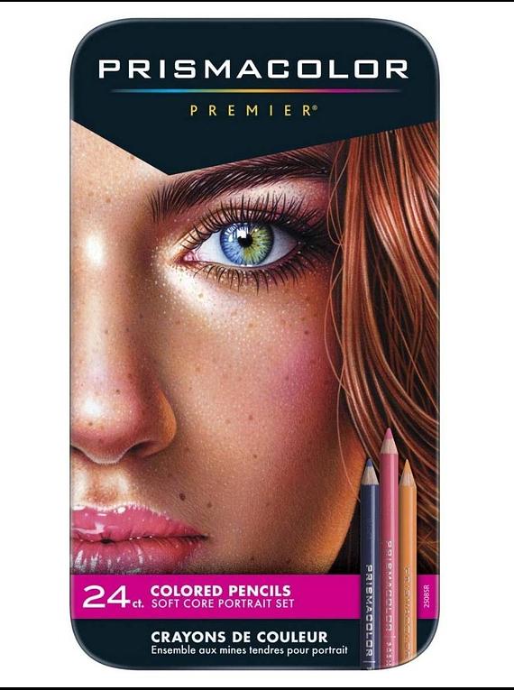 Prismacolor Premier - Set 24 Lápices de Colores; Retrato (Tonos Piel)