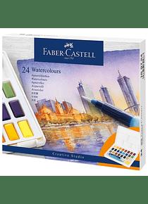 Faber-Castell Creative Studio - Set 24 Acuarelas con Water Brush