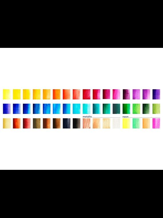 Faber-Castell Creative Studio - Set 48 Acuarelas con Water Brush