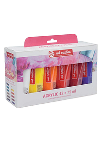 Talens Art Creation Acrylic Colour - Set 12 Acrílicos Tubos de 75 ml