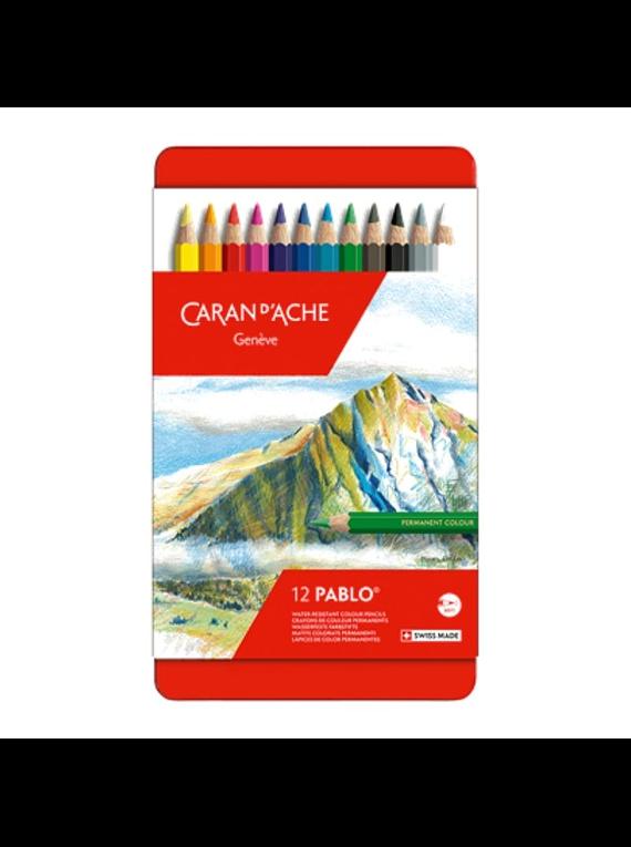 Caran d'Ache Pablo - Set 12 Lápices de Colores