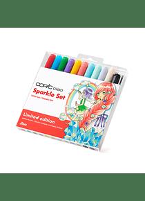 Copic Ciao - Kit Marcadores y Tiralíneas Sparkle Set Glitter