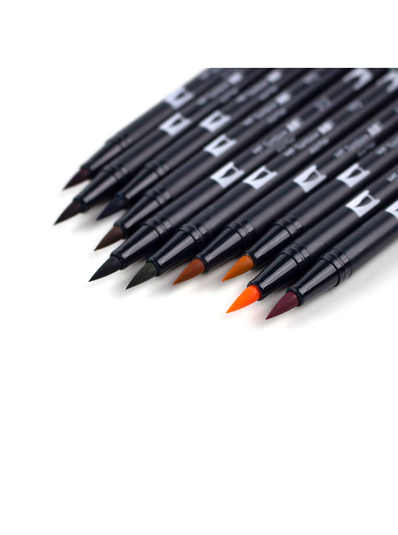 Tombow Dual Brush - Set 10 Marcadores; Cottage
