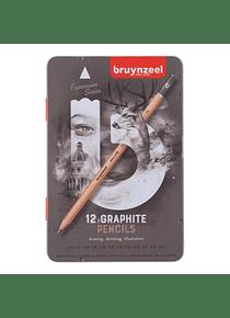 Bruynzeel Expression - Set 12 Lápices Grafito; 2H a 9B