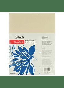 Speedball - Pack 25 Hojas Papel Fino para Impresión; Mora y Fibra de Bambú