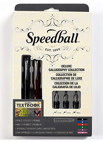 Speedball - Kit Caligrafía Pluma Fuente; Deluxe Calligraphy Collection