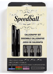 Speedball - Kit Caligrafía Pluma Fuente; Calligraphy Set