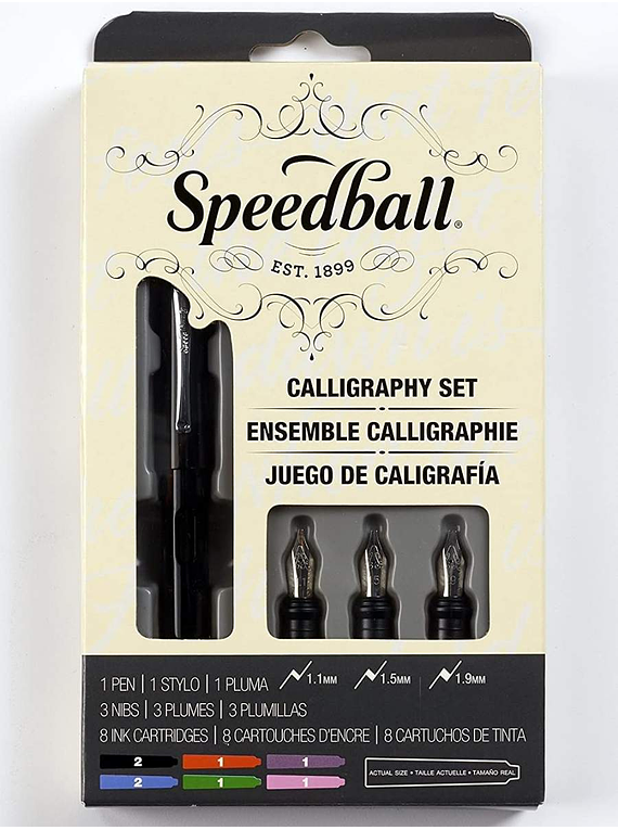 Speedball - Kit Caligrafía Pluma Fuente; Calligraphy Set