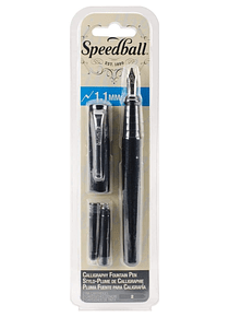 Speedball - Pluma Fuente 1,1 mm con 2 Cartuchos Tinta