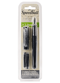 Speedball - Pluma Fuente 1,9 mm con 2 Cartuchos Tinta