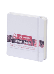 Talens Art Creation Sketch Book - Libreta Blanca 12 x 12 cm, 80 Hojas, 140 g/m2