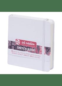 Talens Art Creation Sketch Book - Libreta Blanca 12 x 12 cm, 80 Hojas, 140 g/m2