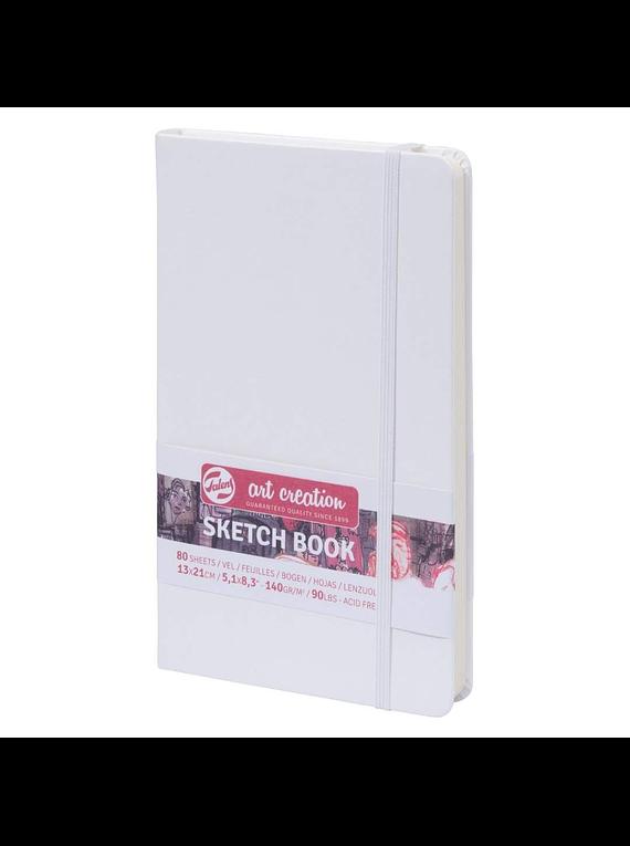 Talens Art Creation Sketch Book - Libreta Blanca 13 x 21 cm, 80 Hojas, 140 g/m2
