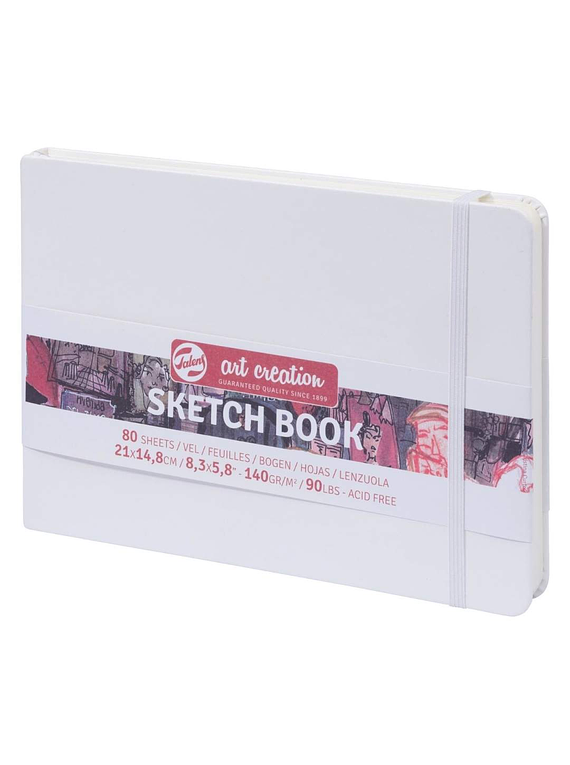 Talens Art Creation Sketch Book - Libreta Blanca 21 x 15 cm, 80 Hojas, 140 g/m2