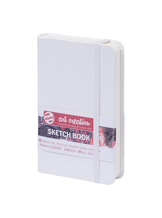 Talens Art Creation Sketch Book - Libreta Blanca 9 x 14 cm, 80 Hojas, 140 g/m2