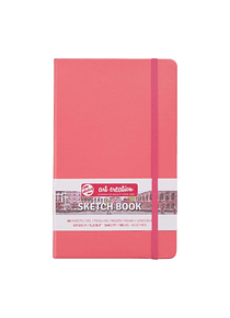 Talens Art Creation Sketch Book - Libreta Coral Red 13 x 21 cm, 80 Hojas, 140 g/m2