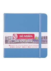 Talens Art Creation Sketch Book - Libreta Lake Blue 12 x 12 cm, 80 Hojas, 140 g/m2