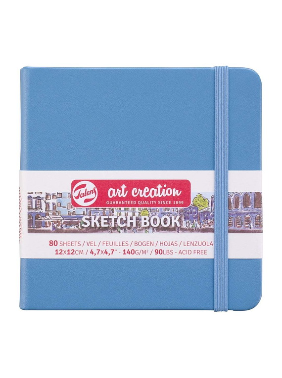 Talens Art Creation Sketch Book - Libreta Lake Blue 12 x 12 cm, 80 Hojas, 140 g/m2