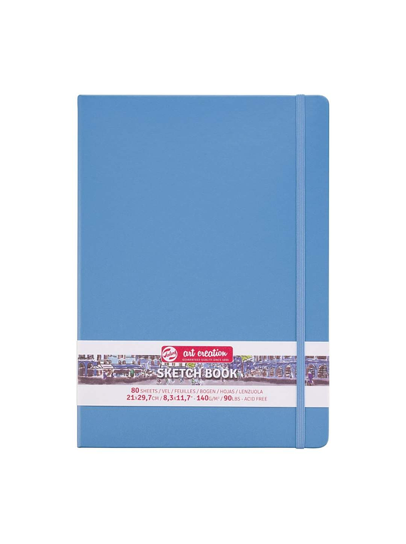Talens Art Creation Sketch Book - Libreta Lake Blue 21 x 30 cm, 80 Hojas, 140 g/m2