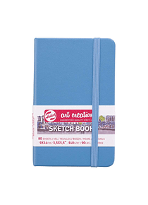 Talens Art Creation Sketch Book - Libreta Lake Blue 9 x 14 cm, 80 Hojas, 140 g/m2