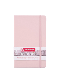 Talens Art Creation Sketch Book - Libreta Pastel Pink 13 x 21 cm, 80 Hojas, 140 g/m2