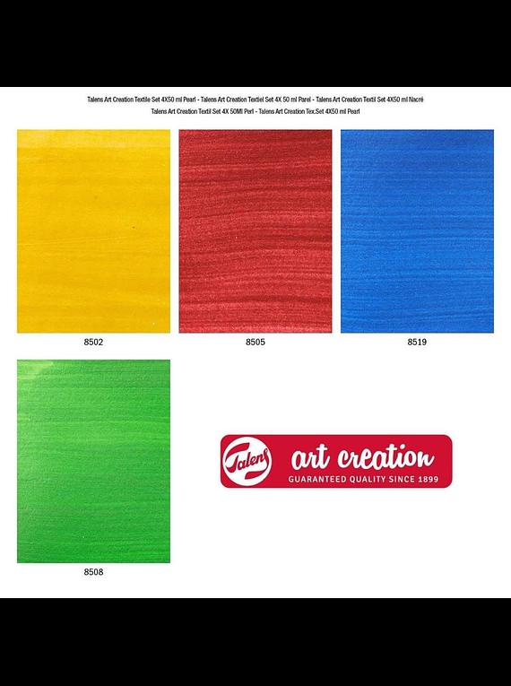 Talens Art Creation Textile - Set 4 Colores Pintura Textil Aperlada Frascos 50 ml