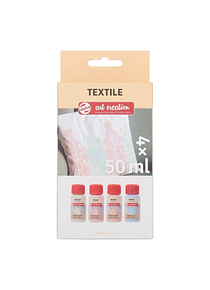 Talens Art Creation Textile - Set 4 Colores Pintura Textil Pastel; 50 ml