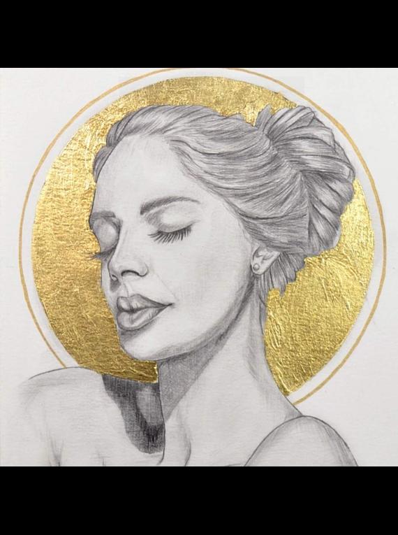 Speedball Mona Lisa - Pack 25 Pan de Oro Metal Leaf Dorado; 25 láminas, 14 x 14 cm