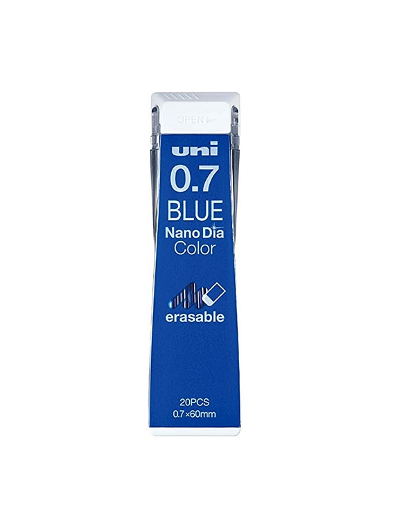 Uni Nano Dia Color - Pack 20 Minas de Colores Borrables 0.7 mm