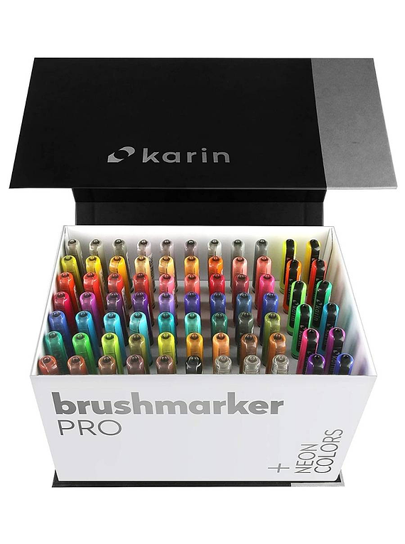 Karin BrushMarker Pro - Set 72 Marcadores Mega Box Plus