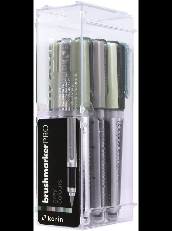 Karin BrushMarker Pro - Set 12 Marcadores Grey Colours