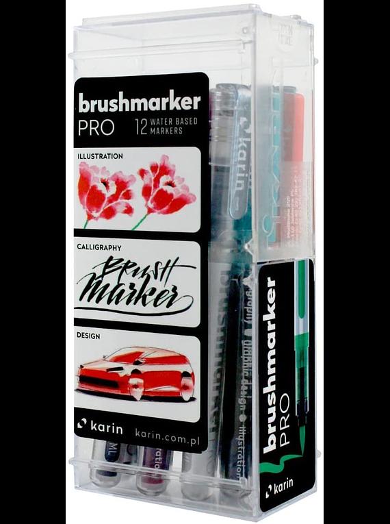 Karin BrushMarker Pro - Set 12 Marcadores Basic Colours