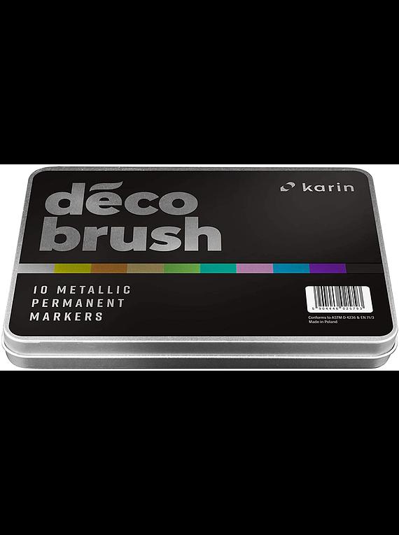 Karin DecoBrush Metallic - Set 10 Marcadores Metalizados