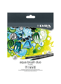 Lyra Aqua Brush Duo - Set 12 Marcadores Doble Punta